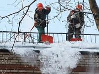 Очистка снега альпинисты
