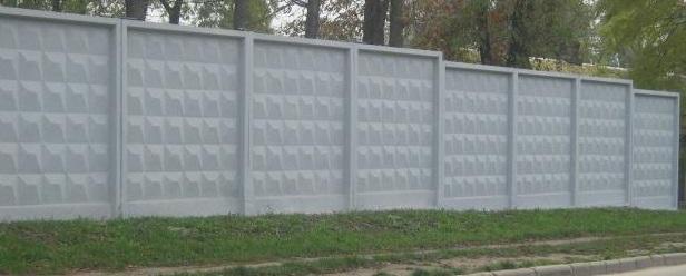 Покраска бетонного забора-2