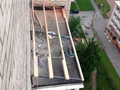 Ремонт крыши балкона - интерфасадплюс.